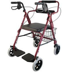 Transport Rollator w/footrest